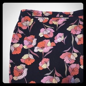 Who What Wear Black Floral Pencil Skirt